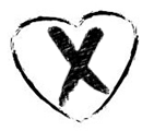 Heart with x